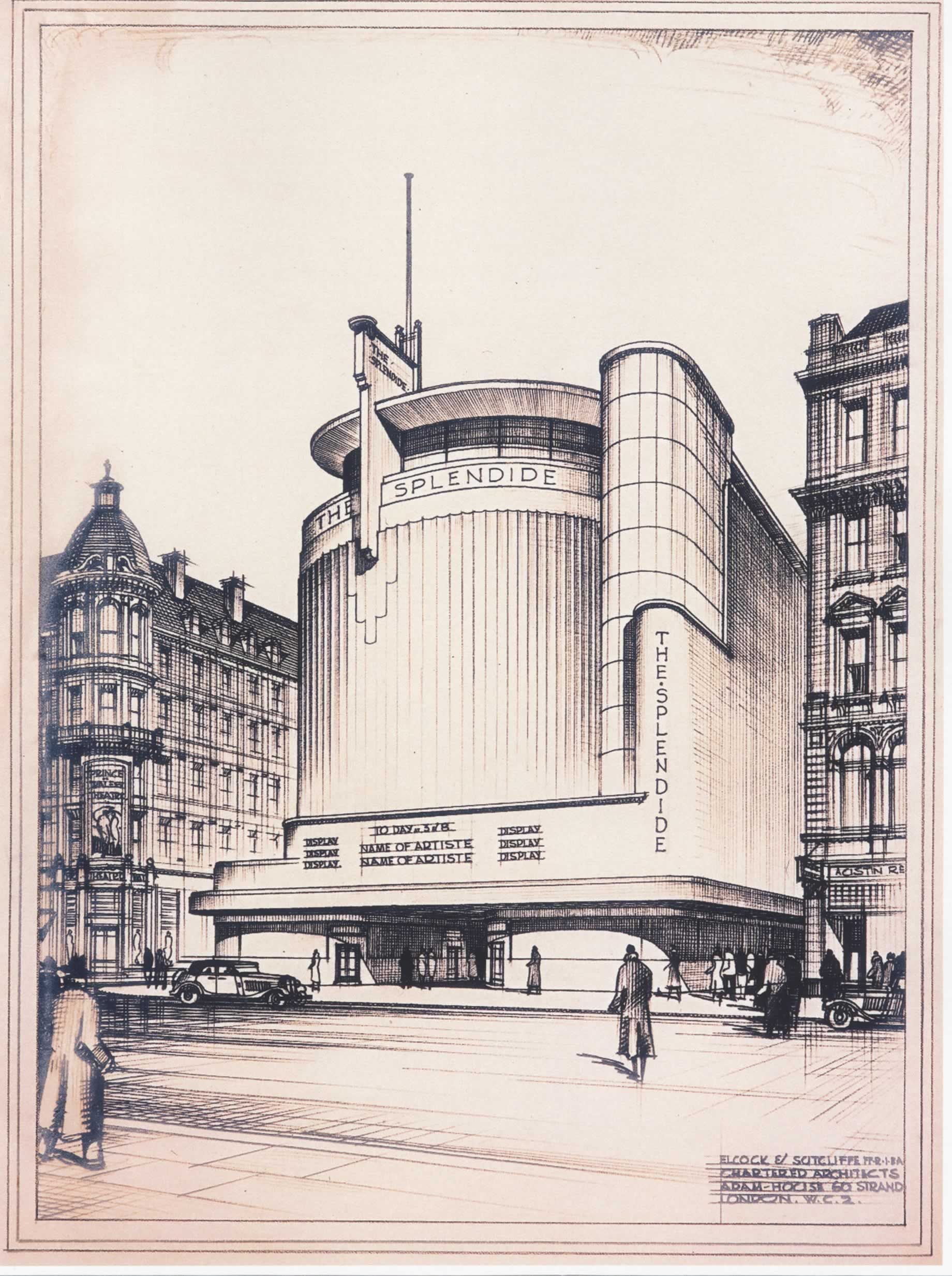 D Front Elevation Of Building : Rms trust ralph maynard smith ancillary archive